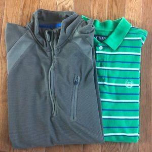 2 Chaps men's tops. Long sleeve half zip NWOT